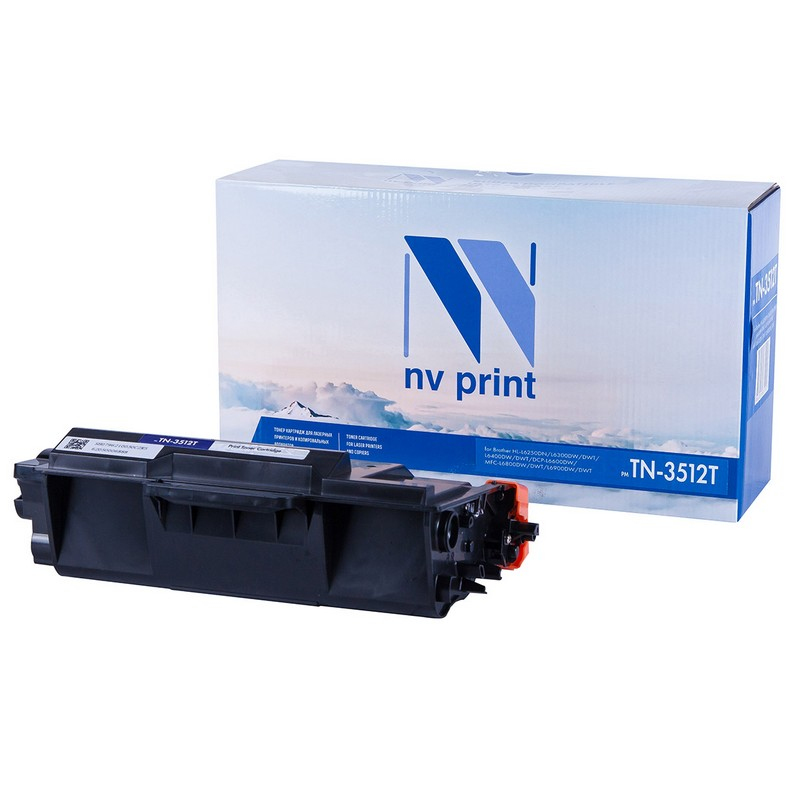 Картридж NVP совместимый NV-TN-3512T для Brother HL-L6250DN | L6300DW | L6300DWT | L6400DW | L6400DWT | DCP-L6600DW | MFC-L6800DW | L6800DWT | L6900DW | L6900DWT Черный (Black) 12000стр.