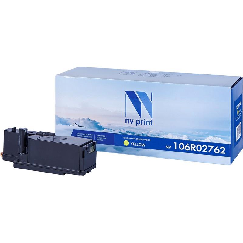 Картридж NVP совместимый NV-106R02762 Yellow для Xerox Phaser 6020   6022   WorkCentre 6025   6027 Желтый (Yellow) 1000стр.