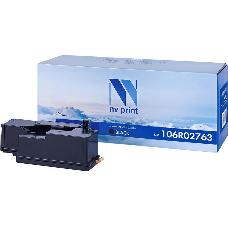 Картридж NVP совместимый NV-106R02763 Black для Xerox Phaser 6020 | 6022 | WorkCentre 6025 | 6027 Черный (Black) 2000стр.
