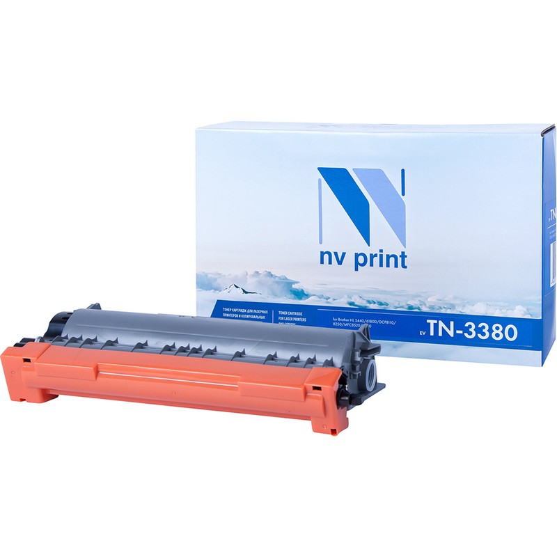 Картридж NVP совместимый NV-TN-3380T для Brother HL-5440D   5450DN   5470DW   6180DW   8250   8950   DCP-8110   MFC-8520 Черный (Black) 8000стр.