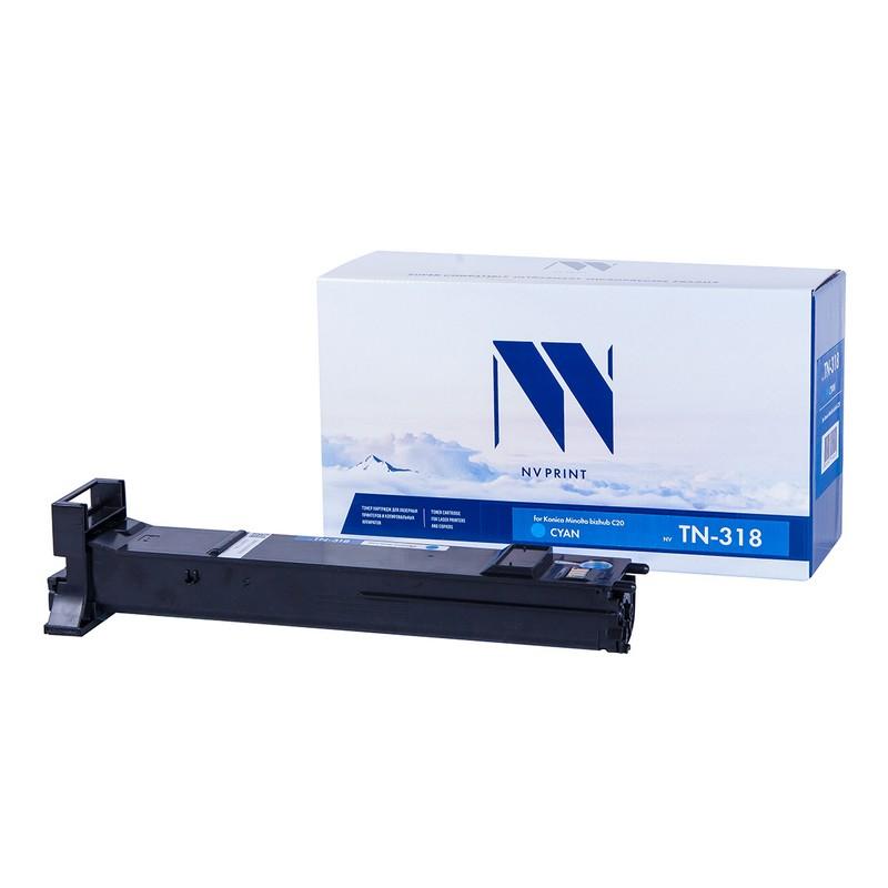 Тонер-картридж NVP совместимый NV-TN-318 Cyan для Konica Minolta bizhub C20 Голубой (Cyan) 8000стр.