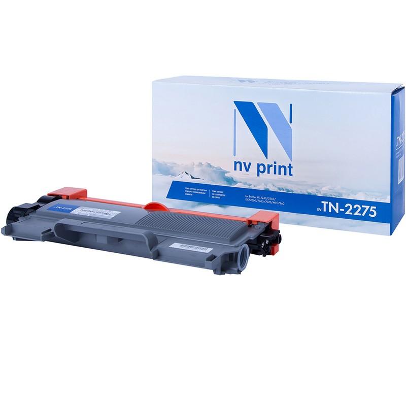 Картридж NVP совместимый NV-TN-2275T для Brother HL-2240R   2240DR   2250DNR   DCP-7060DR   7065DNR   7070DWR   MFC-7360NR   7860DWR   FAX-2845R   FAX-2940R Черный (Black) 2600стр.