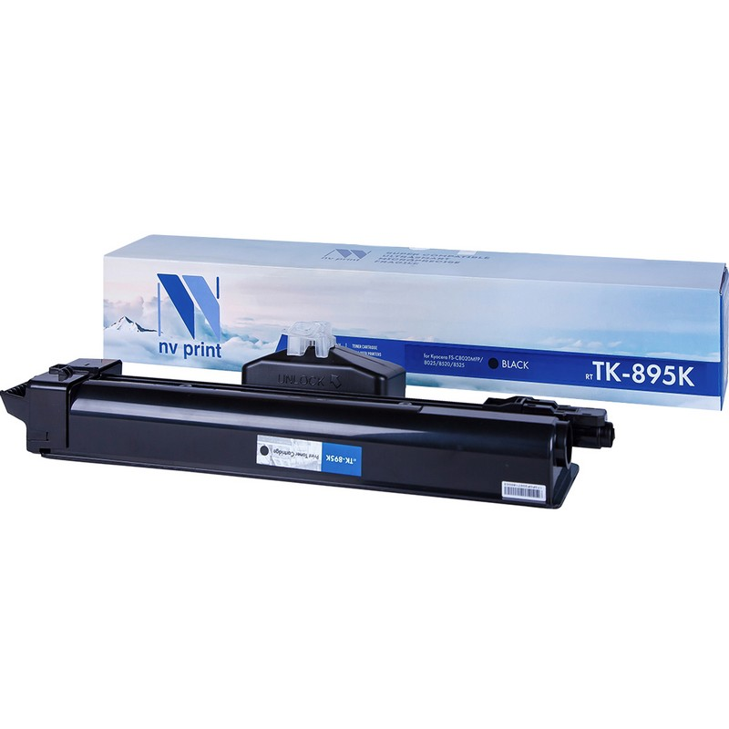 Картридж NVP совместимый NV-TK-895 Black для Kyocera FS-C8020MFP   C8025MFP   C8520MFP   C8525MFP Черный (Black) 12000стр.