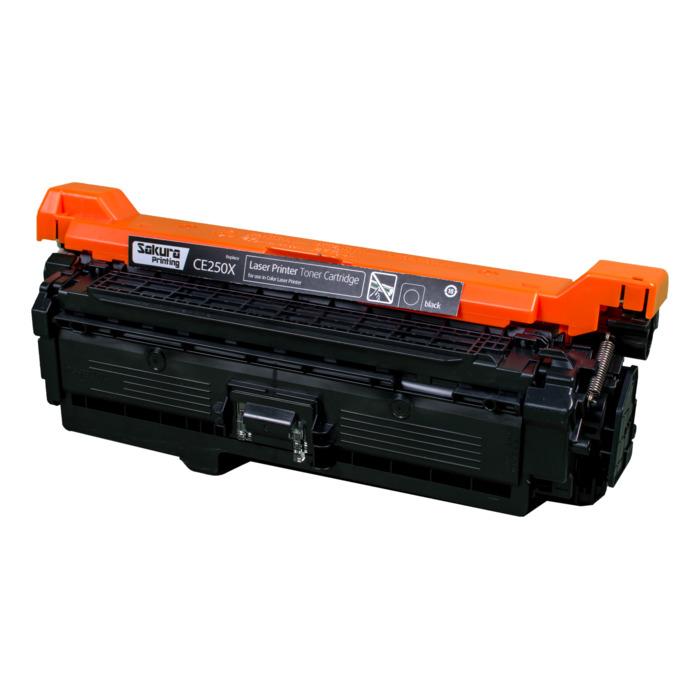 Картридж SAKURA CE250X  для HPColor LaserJet CM3530MFP/CM3530fsMFP/CP3525/CP3525n/CP3525dn/CP3525x, для Color LJ CM3530MFP / CM3530fsMFP / CP3525 / CP3525n / CP3525dn / CP3525x  10000стр.