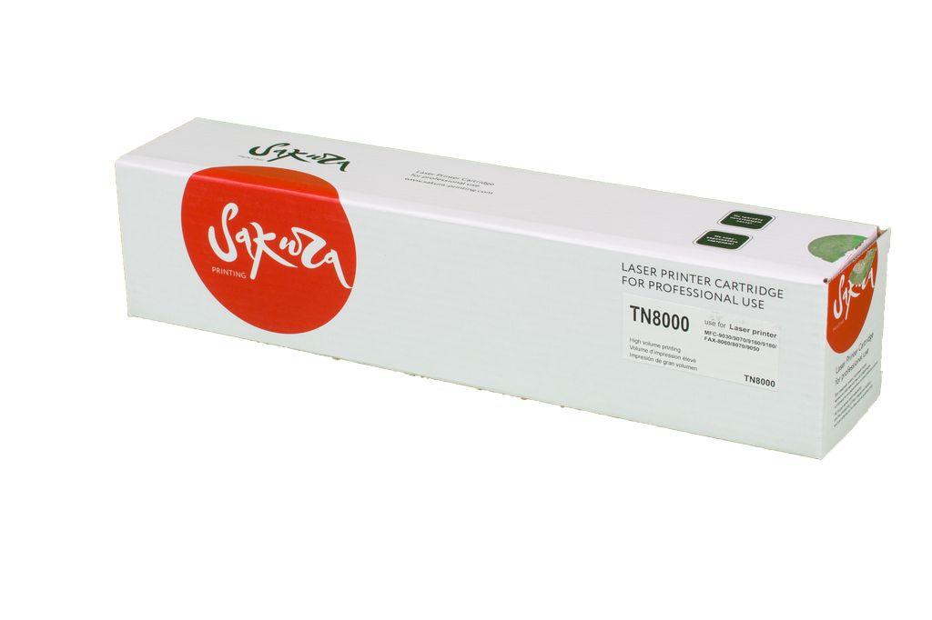 Картридж SAKURA TN8000 для Brother  FAX8070P/2850, MFC4800/9030/9070/9160/9180, 2200 черный к. для FAX8070P / 2850 / MFC4800 / 9030 / 9070 / 9160 / 9180  2200стр.
