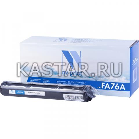 Картридж NVP совместимый NV-KX-FA76 для Panasonic KX-FL501 | 502 | 503 | 523RU | FLM553RU | FLB753 | 758RU Черный (Black) 2000стр.