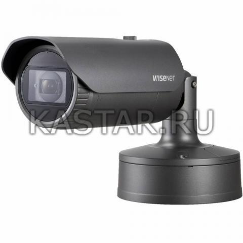 Вандалостойкая камера Wisenet Samsung XNO-6080RP, ИК-подсветка 50 м, Motor-zoom