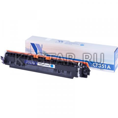 Картридж NVP совместимый NV-CF351A Cyan для HP LaserJet Color Pro M176n   M177fw Голубой (Cyan) 1000стр.