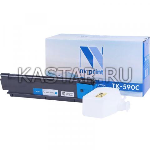 Картридж NVP совместимый NV-TK-590 Cyan для Kyocera FS-C2026MFP | C2126 | C2526MFP | C2626 | C5250DN | P6026cdn | M6026cdn | M6526cdn Голубой (Cyan) 5000стр.