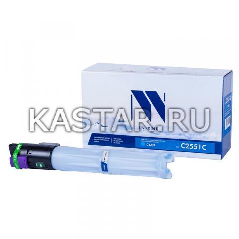 Тонер-картридж NVP совместимый NV-MP C2551 Cyan для Ricoh Aficio MP C2051 | C2051AD | C2551 | C2551AD Голубой (Cyan) 9500стр.