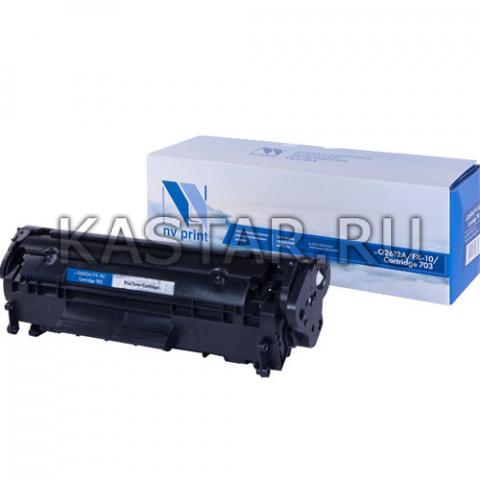 Картридж NVP совместимый NV-Q2612A | NV-FX-10 | 703 для HP LaserJet M1005 | 1010 | 1012 | 1015 | M1319f | 3015 | 3020 | 3030 | 3050 | 3050z | Canon i-SENSYS FAX-L95 | 100 | 120 | 160 | MF-4018 | 4120 | 4140 | 4150 | 4270 Черный (Black) 2000стр.