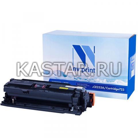 Картридж NVP совместимый NV-CE253A | NV-723 Magenta для HP LaserJet Color CP3525 | CP3525dn | CP3525n | CP3525x | CM3530 | CM3530fs | Canon i-SENSYS LBP7750Cdn Пурпурный (Magenta) 7000стр.