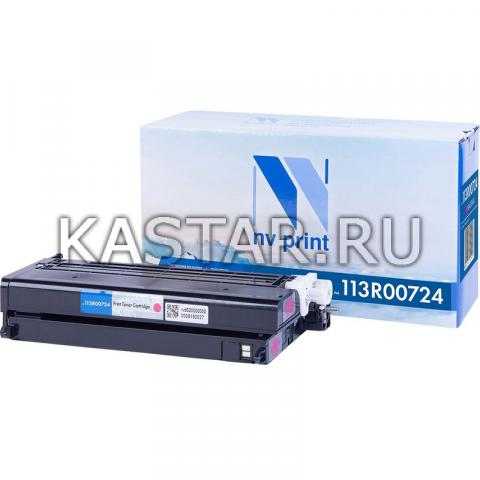 Картридж NVP совместимый NV-113R00724 Magenta для Xerox Phaser 6180 | 6180MFP Пурпурный (Magenta) 6000стр.