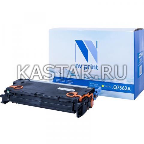Картридж NVP совместимый NV-Q7562A для HP LaserJet Color 2700 | 3000 Желтый (Yellow) 3500стр.