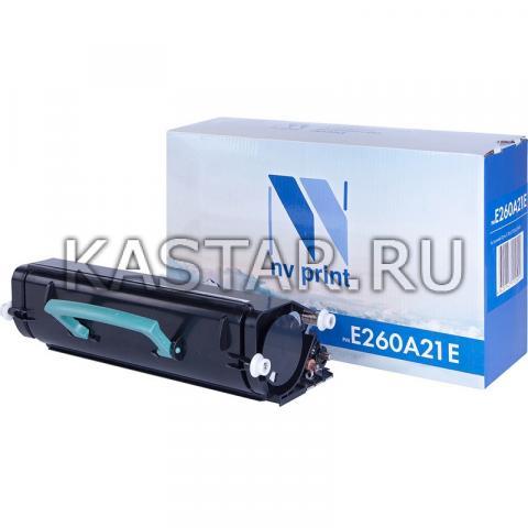 Картридж NVP совместимый NV-E260A21E для Lexmark Optra E260 | E260d | E260dn | E360 | E360d | E360dn | E460 | E460dn | E460dw Черный (Black) 3500стр.