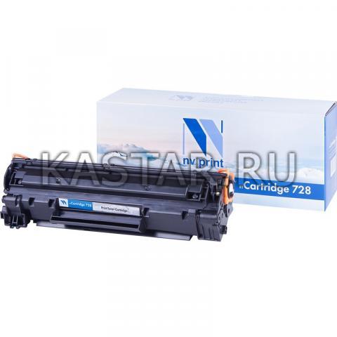 Картридж NVP совместимый NV-728 для Canon  i-SENSYS MF4370 | MF4410 | MF4430 | MF4450 | MF4450d | MF4550 | MF4550D | MF4570 | MF4580 | MF4750 | MF4780 | MF4780w | MF4890 | MF4890dw Черный (Black) 2100стр.