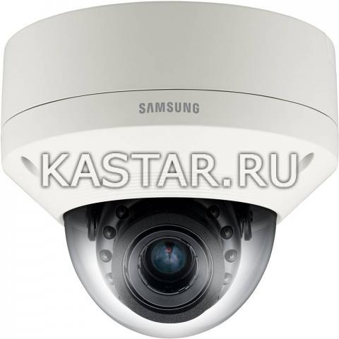 Вандалостойкая камера Wisenet Samsung SNV-6085RP, 2.3 zoom, WDR 120 дБ, ИК-подсветка