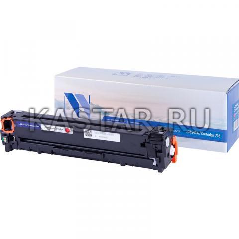 Картридж NVP совместимый NV-CB543A | NV-716 Magenta для HP LaserJet Color CP1215 | CM1312 | CM1312nfi | CP1215 | Canon i-SENSYS LBP5050 | LBP5050n | MF8030Cn | MF8040Cn | MF8050Cn | MF8080Cw Пурпурный (Magenta) 1400стр.