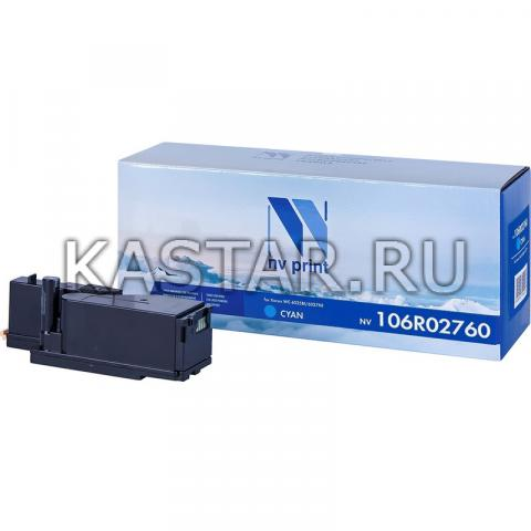 Картридж NVP совместимый NV-106R02760 Cyan для Xerox Phaser 6020 | 6022 | WorkCentre 6025 | 6027 Голубой (Cyan) 1000стр.