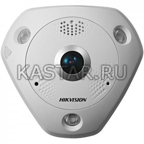 FishEye-камера высокого разрешения 12 Мп Hikvision DS-2CD63C2F-IS с ИК-подсветкой