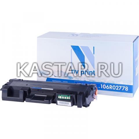 Картридж NVP совместимый NV-106R02778 для Xerox Phaser 3052   3260   WorkCentre 3215   3225 Черный (Black) 3000стр.
