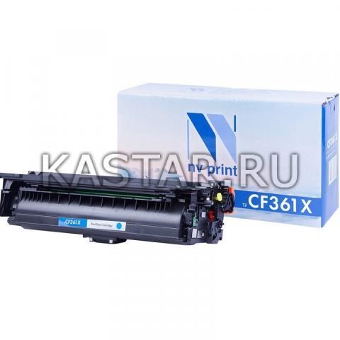 Картридж NVP совместимый NV-CF361X Cyan для HP LaserJet Color M552dn | M553dn | M553n | M553x | MFP-M577dn | M577f | Flow M577c Голубой (Cyan) 9500стр.