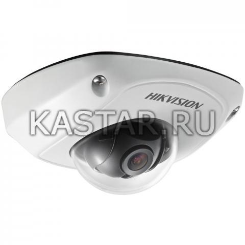 Компактная вандалостойкая IP-камера для транспорта Hikvision DS-2CD6510D-I