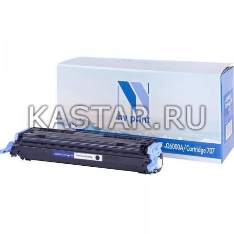 Картридж NVP совместимый NV-Q6000A | NV-707 Black для HP LaserJet Color 1600 | 2600n | 2605 | 2605dn | 2605dtn | Canon  i-SENSYS LBP-5000 | 5100 Черный (Black) 2500стр.