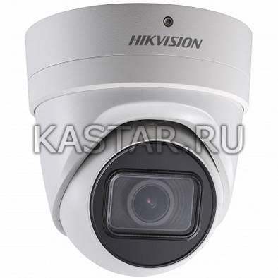 Сетевая вандалостойкая 5Мп камера-сфера Hikvision DS-2CD2H55FWD-IZS с EXIR-подсветкой и Motor-zoom