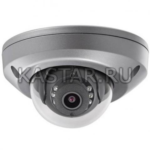 Вандалостойкая купольная IP-камера для транспорта Hikvision DS-2CD6520DT-IO