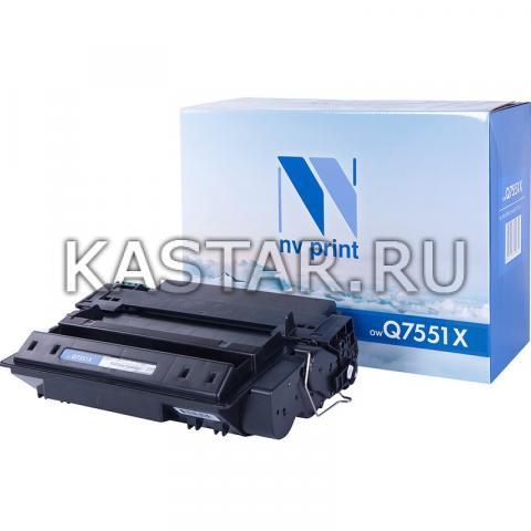 Картридж NVP совместимый NV-Q7551X для HP LaserJet P3005 | P3005d | P3005dn | P3005n | P3005x | M3027 | M3027x | M3035 | M3035xs Черный (Black) 13000стр.