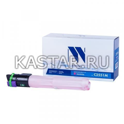 Тонер-картридж NVP совместимый NV-MP C2551 Magenta для Ricoh Aficio MP C2051 | C2051AD | C2551 | C2551AD Пурпурный (Magenta) 9500стр.