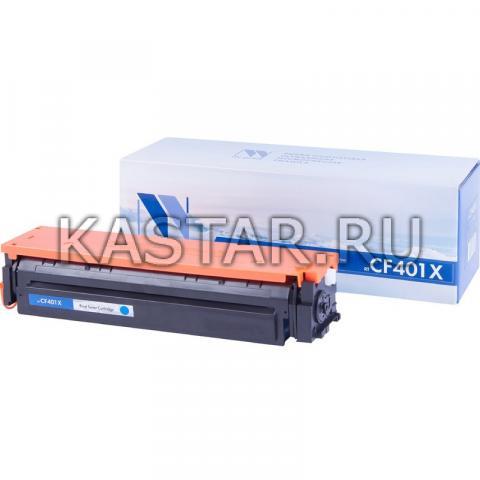 Картридж NVP совместимый NV-CF401X Cyan для HP LaserJet Color Pro M252dw | M252n | M274n | M277dw | M277n Голубой (Cyan) 2300стр.