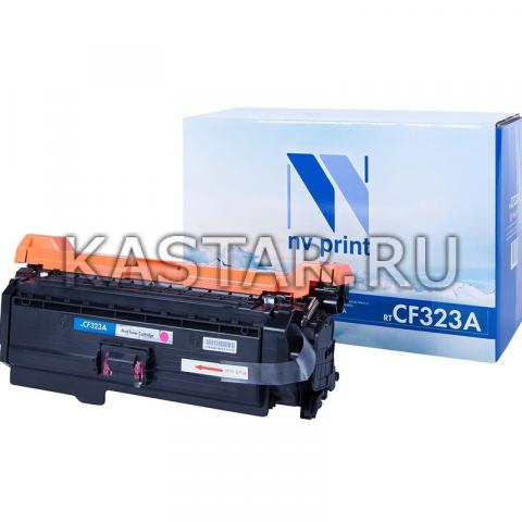 Картридж NVP совместимый NV-CF323A Magenta для HP LaserJet Color M680dn | M680f | M680z Пурпурный (Magenta) 16500стр.