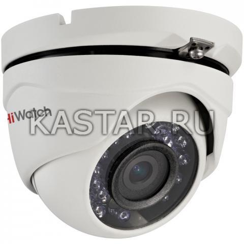 2 Мп HD-TVI камера-сфера для улицы HiWatch DS-T203 с ИК-подсветкой
