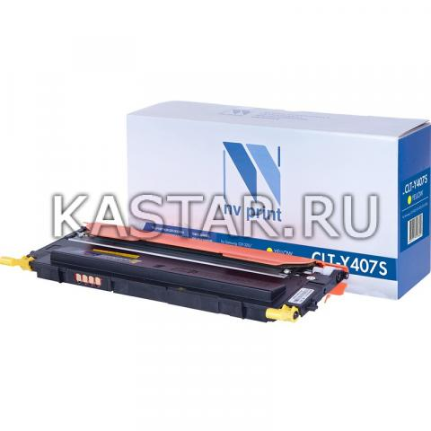 Картридж NVP совместимый NV-CLT-Y407S Yellow для Samsung CLP-320 | CLP-325 | CLX-3185 Желтый (Yellow) 1000стр.