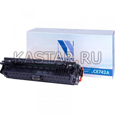 Картридж NVP совместимый NV-CE742A Yellow для HP LaserJet Color CP5220 | CP5225 | CP5225dn | CP5225n Желтый (Yellow) 7300стр.