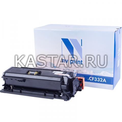 Картридж NVP совместимый NV-CF332A Yellow для HP LaserJet Color M651dn | M651n | M651xh Желтый (Yellow) 15000стр.