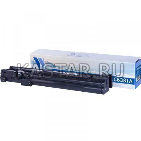 Картридж NVP совместимый NV-CB381A Cyan для HP LaserJet  Color CP6015dn | CP6015n | CP6015xh | CM6030 | CM6040 Голубой (Cyan) 21000стр.