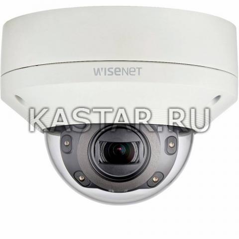 Вандалостойкий Smart-купол Wisenet Samsung XNV-6080RP, Motor-zoom, ИК-подсветка 50 м
