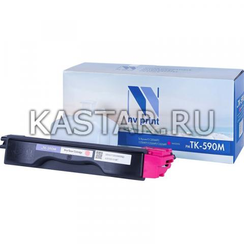 Картридж NVP совместимый NV-TK-590 Magenta для Kyocera FS-C2026MFP | C2126 | C2526MFP | C2626 | C5250DN | P6026cdn | M6026cdn | M6526cdn Пурпурный (Magenta) 5000стр.