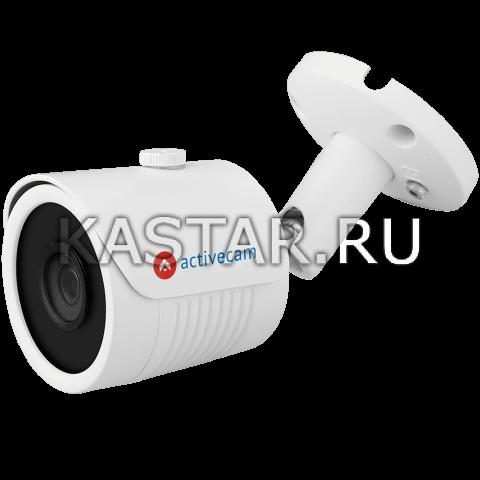 Цилиндр HD-TVI, HD-CVI, AHD, CVBS 5 Мп камера ActiveCam AC-H5B5 с ИК-подсветкой 30 м