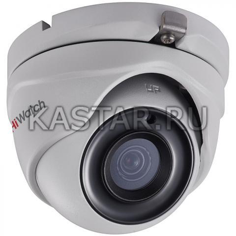 Уличная HD-TVI камера высокого разрешения 3 Мп HiWatch DS-T303 с ИК-подсветкой