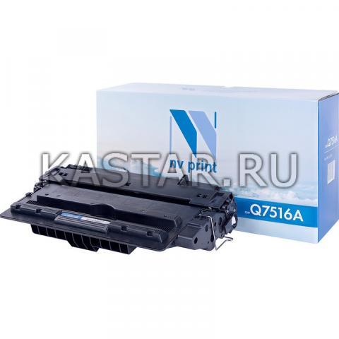 Картридж NVP совместимый NV-Q7516A для HP LaserJet 5200 | 5200L | 5200dtn | 5200tn Черный (Black) 12000стр.