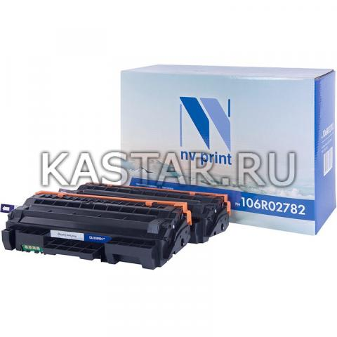 Картридж NVP совместимый NV-106R02782 (2шт в упак) для Xerox Phaser 3052 | 3260 | WorkCentre 3215 | 3225 Черный (Black) 6000стр.
