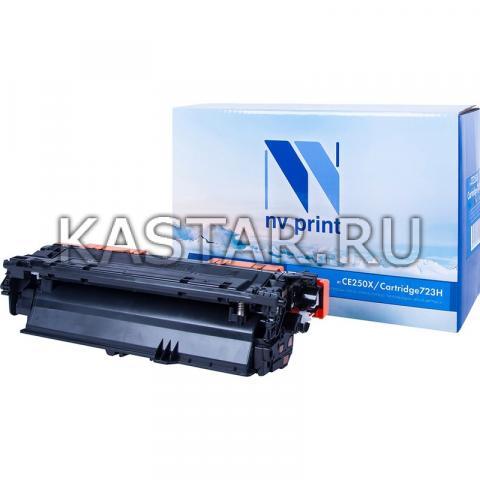 Картридж NVP совместимый NV-CE250X | NV-723H Black для HP LaserJet Color CP3525 | CP3525dn | CP3525n | CP3525x | CM3530 | CM3530fs | Canon i-SENSYS LBP7750Cdn Черный (Black) 10500стр.
