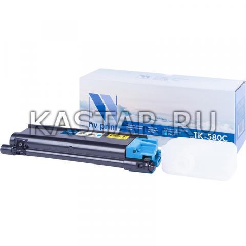 Картридж NVP совместимый NV-TK-580 Cyan для Kyocera  FS C5150DN | ECOSYS P6021cdn Голубой (Cyan) 2800стр.
