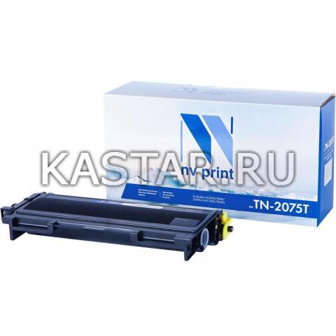 Картридж NVP совместимый NV-TN-2075T для Brother HL-2030R | 40R | 70NR | FAX-2825R | 2920R | DCP-7010R | 25R | MFC-7420R | 7820NR Черный (Black) 2500стр.