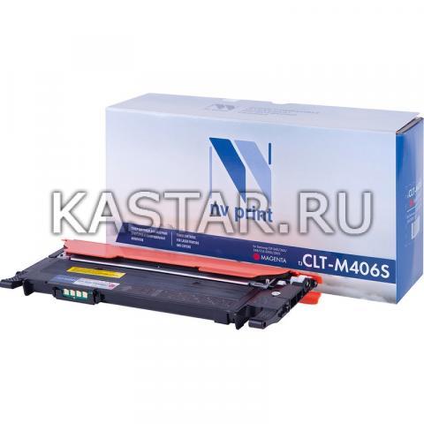 Картридж NVP совместимый NV-CLT-M406S Magenta для Samsung CLP-360 | 365 | 368 | CLX-3300 | 3305 Пурпурный (Magenta) 1000стр.