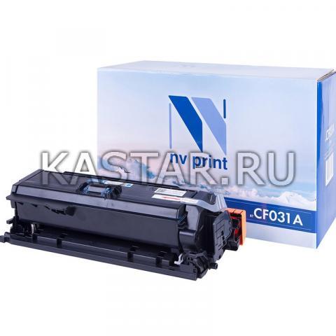 Картридж NVP совместимый NV-CF031A Cyan для HP LaserJet Color CM4540 MFP | CM4540f MFP | CM4540fskm Голубой (Cyan) 12500стр.